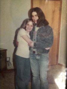 Christy and her husband as teenagers